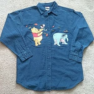 Winnie the Pooh Embroidered Denim Shirt